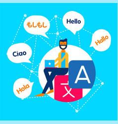 Internet translation communication service concept vector