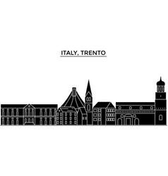 italy trento architecture city skyline vector image