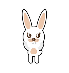 Kawaii rabbit animal toy vector
