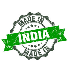 Made in india round seal vector
