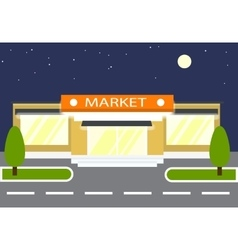 Market in the night store vector