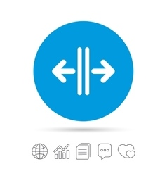 Open the door sign icon Control in the elevator vector image vector image