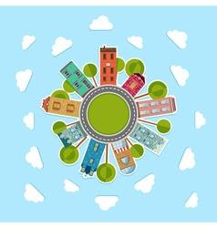 Paper urban landscape of community vector image