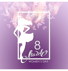 Party flyer for international women day vector