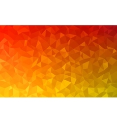 Polygonal abstract Background - red yellow vector image vector image