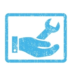 Repair service icon rubber stamp vector