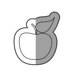 silhouette apple fruit icon stock vector image