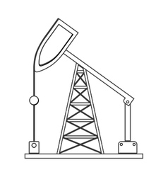 Silhouette with tower and system oil extraction vector