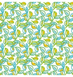 Tender spring foliage seamless pattern in hand vector