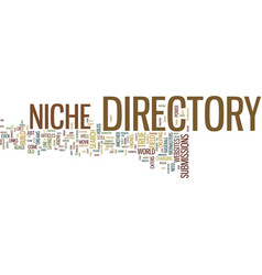 The power of a niche directory text background vector