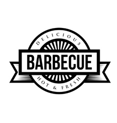 Vintage style bbq barbecue menu stamp vector