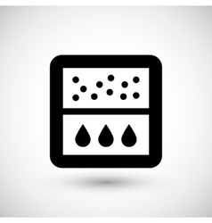 Water filter icon vector