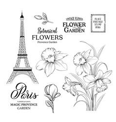 Paris romantic collection vector