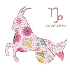 Vintage Capricorn vector image