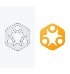 Abstract icon for company with process vector