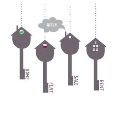 Keys symbols vector