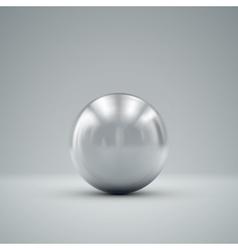 3D metallic sphere vector image