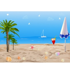Tropical sunny beach vector