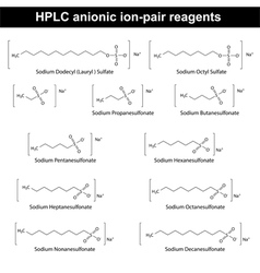Hplc anionic ion pair reagents vector