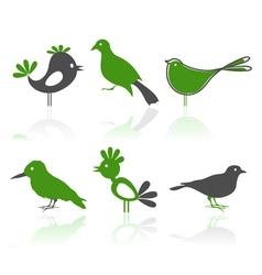 bird characters vector image