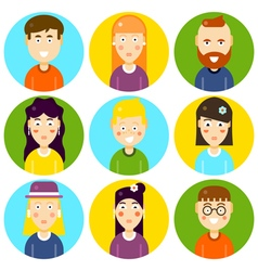 Funny Characters Flat vector image