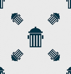 Fire hydrant icon sign seamless pattern with vector