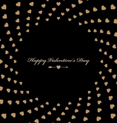 Stylish greeting card happy valentine with hearts vector