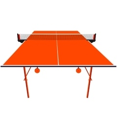 Ping pong orange table tennis vector