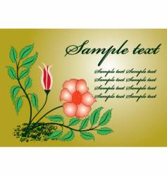 Floral template vector