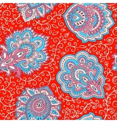 Beautiful Indian floral seamless pattern vector image