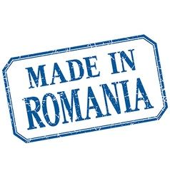 Romania - made in blue vintage isolated label vector