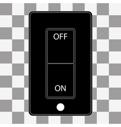 Switch Icon to flat style vector image
