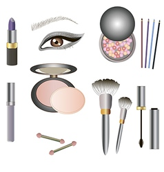 Collection of makeup icon for beauty design vector