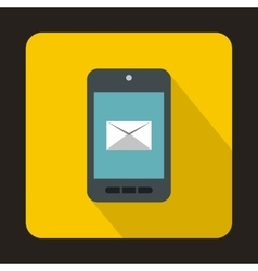 Smartphone with email symbol on the screen icon vector