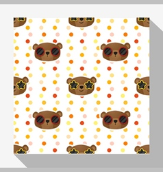 Animal seamless pattern collection with bear 5 vector
