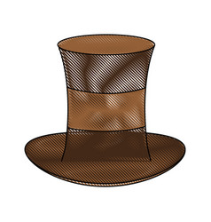 Antique male hat vector