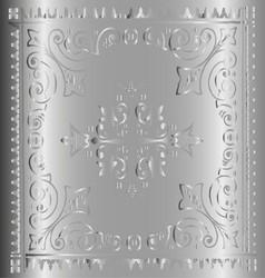 Beautiful vintage floral metal background vector