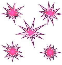 Bursting icon set vector image
