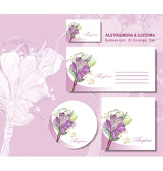 Business card envelope vector