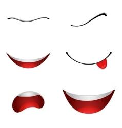 Cartoon mouths set vector