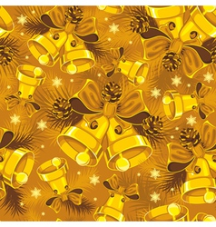 christmas bells seamless vector image vector image