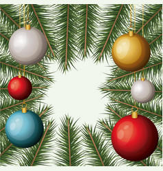 christmas ornament background with colorful vector image vector image