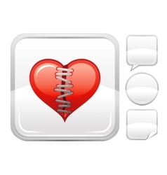 Happy Valentines day romance love heart Patch vector image vector image