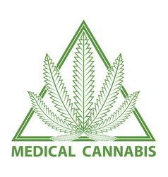 medical cannabis marijuana logo vector image