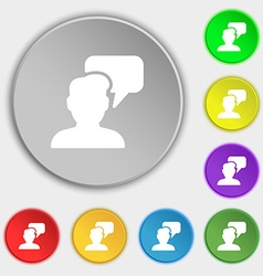 People talking icon sign Symbol on eight flat vector image