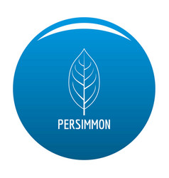 Persimmon leaf icon blue vector