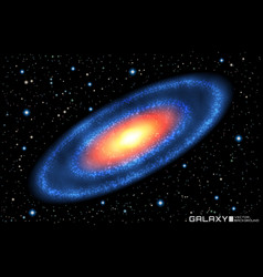 realistic spiral galaxy on vector image vector image