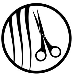 Round hair salon icon vector