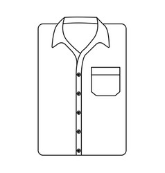 stylish folded shirt icon vector image vector image