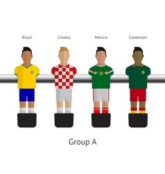Table football soccer players group a - brazil vector